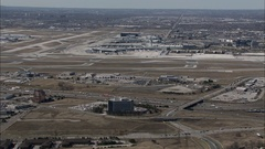 Aerial - Pearson Airport CYYZ 01 Stock Footage