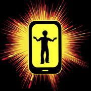 Smartphone overuse hurting kids Stock Illustration
