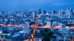 Bangkok Panorama in Timelapse Stock Footage