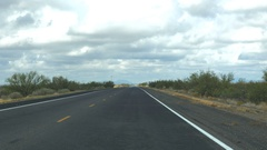 POV-US Highway 180 between Deming and Silver City New Mexico cloudy Stock Footage