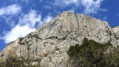 Mountain Kush Kaya. Time lapse to show the top of the mountain Stock Footage