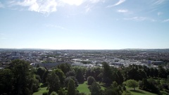 View from cabot tower of bristol city centre sunny Stock Footage