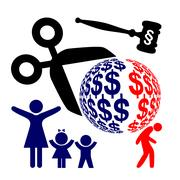 Divorce Battle with Winner and Loser Stock Illustration