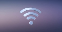 Wi-Fi Silver 3d Icon Stock Footage