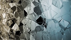 Glass breaking and shatter in slow motion. Alpha matte Stock Footage