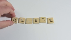 "The word ""Delete"" Stock Footage"