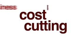 Cost cutting animated word cloud. Stock Footage