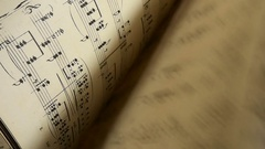 Musical score Stock Footage
