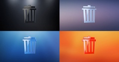 Trash Can 3d Icon Stock Footage