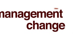 Management change animated word cloud. Stock Footage