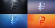 Ruble 3d Icon Stock Footage