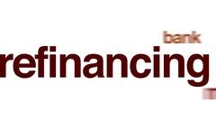 Refinancing animated word cloud. Stock Footage