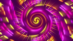 Purple abstract background, vortex gold light, loop Stock Footage