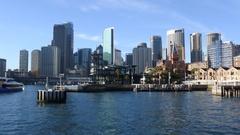 Ferries at Circular Quay ferry wharf in Sydney Australia Stock Footage