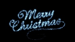 Merry Christmas Beautiful Text Animation Isolated on Black Background. Arkistovideo