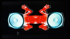 Alien speaker audio music raver man cartoon party Arkistovideo