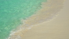 Clear tropical shoreline in the virgin Islands Arkistovideo