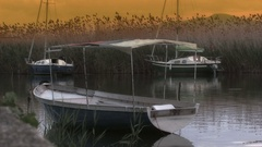 Small port on lakes Stock Footage