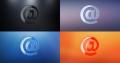Mail At Sign 3d Icon Stock Footage