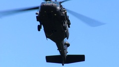 Military Helicopter Repelling Stock Footage