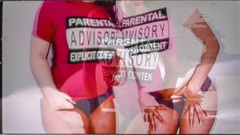 Lesbian sexy cute babes women lovers glitch x-rated Stock Footage