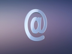 Mail At Sign Silver 3d Icon Stock Footage