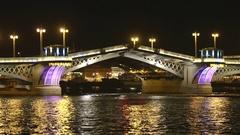 Palace Bridge drawning, St. Petersburg, Russia. Time lapse. Stock Footage
