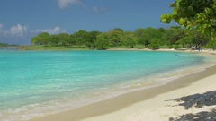 View of Scott Beach, Caneel Bay, St John Stock Footage
