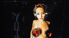 Speaker music gogo sexy dancer audio sound disco glitch Stock Footage