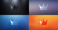Crown 3d Icon Stock Footage