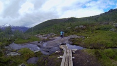 Norway. Tourism. Travels Stock Footage