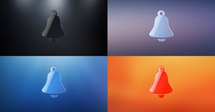 Bell 3d Icon Stock Footage