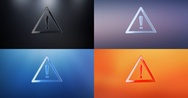 Attention 3d Icon Stock Footage
