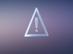 Attention Silver 3d Icon Stock Footage