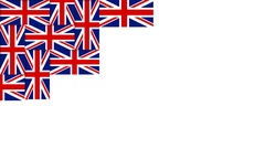 British pattern composed from national flags of the United Kingdom. Stock Footage