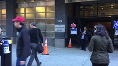 NEW YORK CITY: People head to the polls to decide to vote for Clinton or Trump Stock Footage