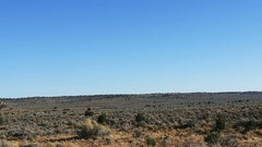 POV-Side window-Northeast Arizona desert sagebrush Stock Footage