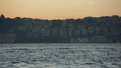 Sunrise in Istanbul over the Bosphorus Stock Footage