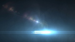 Glowing lens flare  light Stock Footage