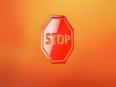 Stop Red 3d Icon Stock Footage