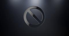 Anti Black 3d Icon Stock Footage