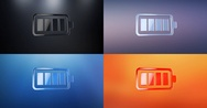 Battery Full 3d Icon Stock Footage