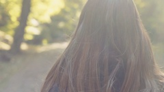 Amazing close up of adorable young woman in a stylish look and windy haircut Stock Footage