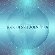 Graphic abstract background communication. Geometric scientific pattern with Stock Illustration