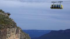 Katoomba Scenic Skyway New South Wales Australia  Stock Footage