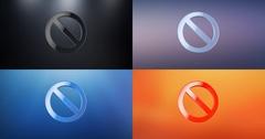 Anti 3d Icon Stock Footage