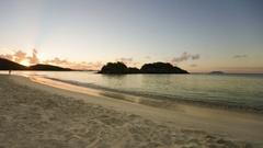 Sunset at trunk bay, St John, United States Virgin Islands Stock Footage
