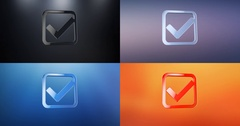 Check Box 3d Icon Stock Footage