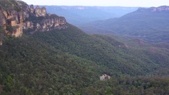Aerial view Jamison Valley Katoomab Blue Mountains Australia  Stock Footage