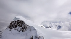 Mountain Peak in Thick Clouds Stock Footage